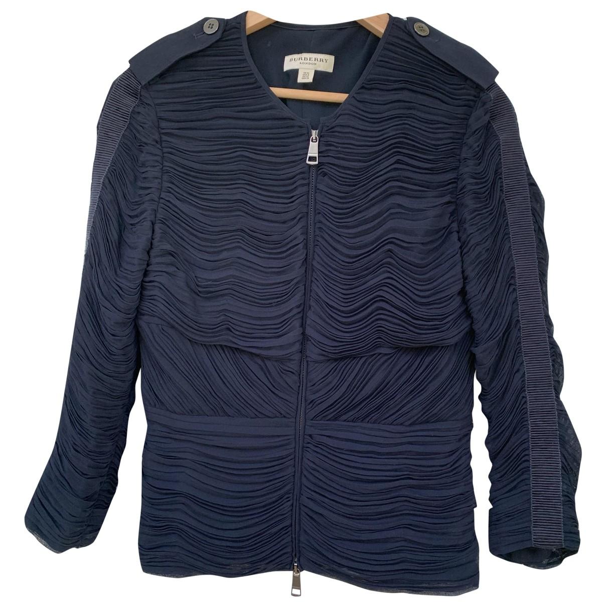 Burberry \N Jacke in  Marine Polyester