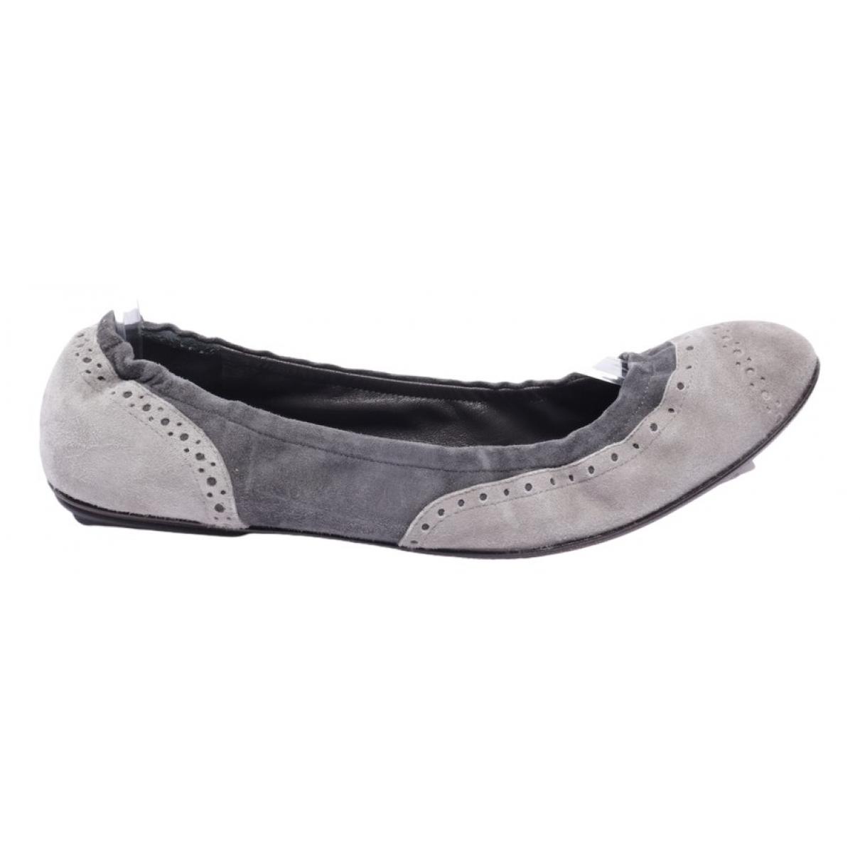 Brunello Cucinelli - Baskets   pour femme en cuir - gris