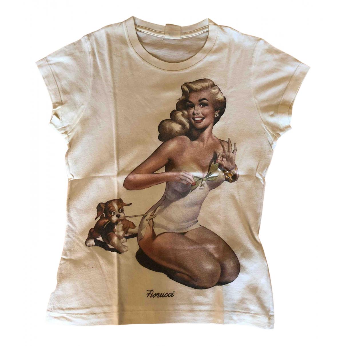 Fiorucci - Top   pour femme en coton - blanc