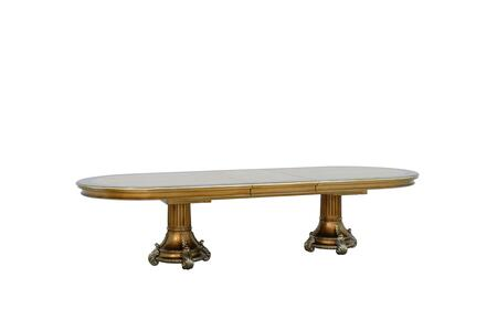 Emperador Collection Luxury Dining Room Table  Hand Carved and Handcrafted  Mahogany Wood Solid  in Antique Brown Silver and Light