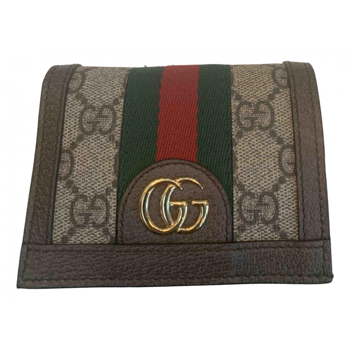 Gucci Ophidia Beige Cloth wallet for Women N