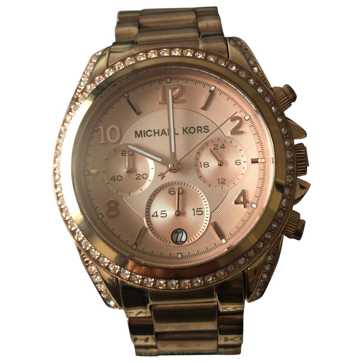 Michael Kors \N Pink Pink gold watch for Women \N