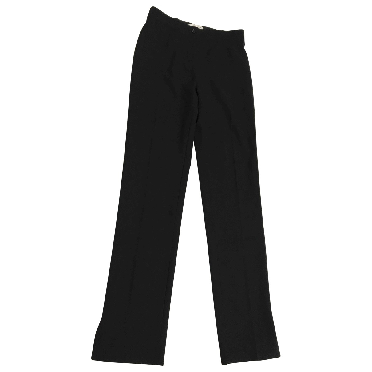 Celine \N Black Wool Trousers for Women 36 IT