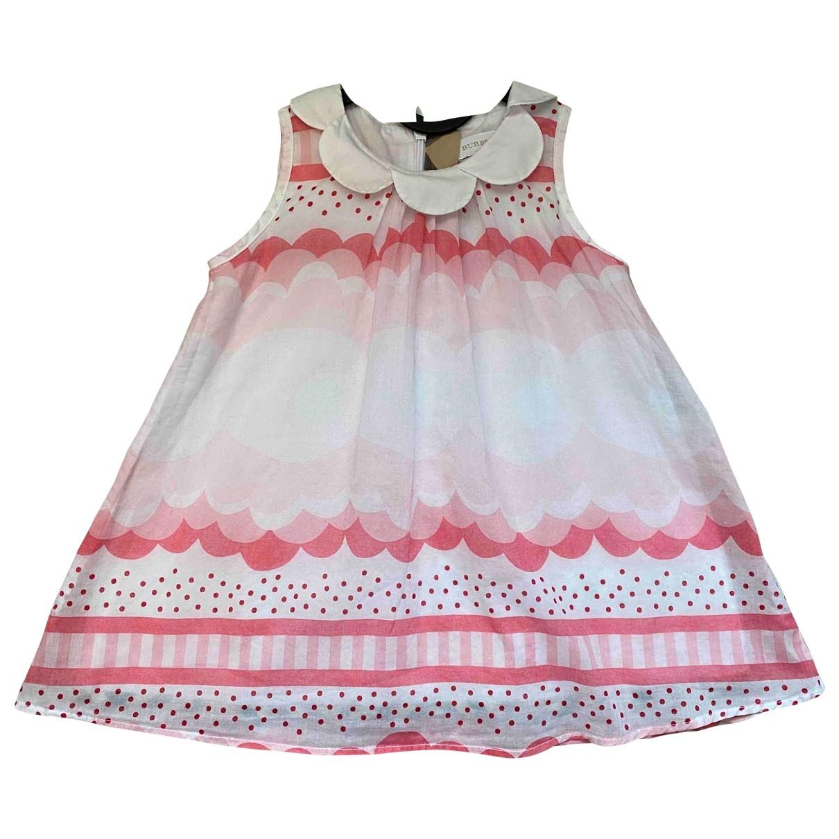 Burberry - Robe    pour enfant en coton - rose