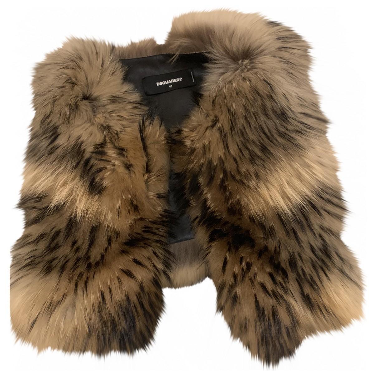 Dsquared2 \N Brown Raccoon jacket for Women 40 IT