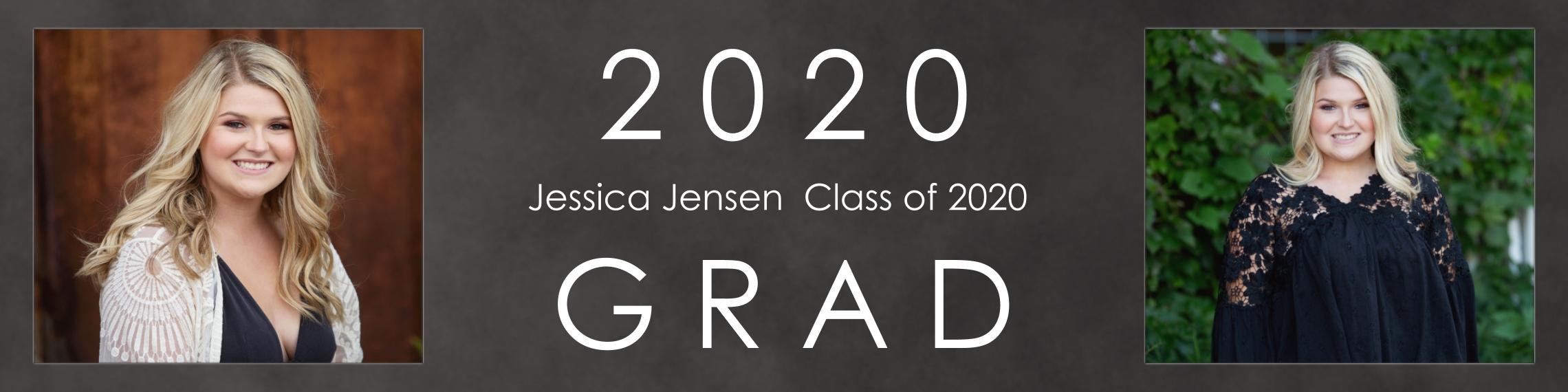 Graduation Vinyl Banner, 2x8, Home Décor -Modern Grad
