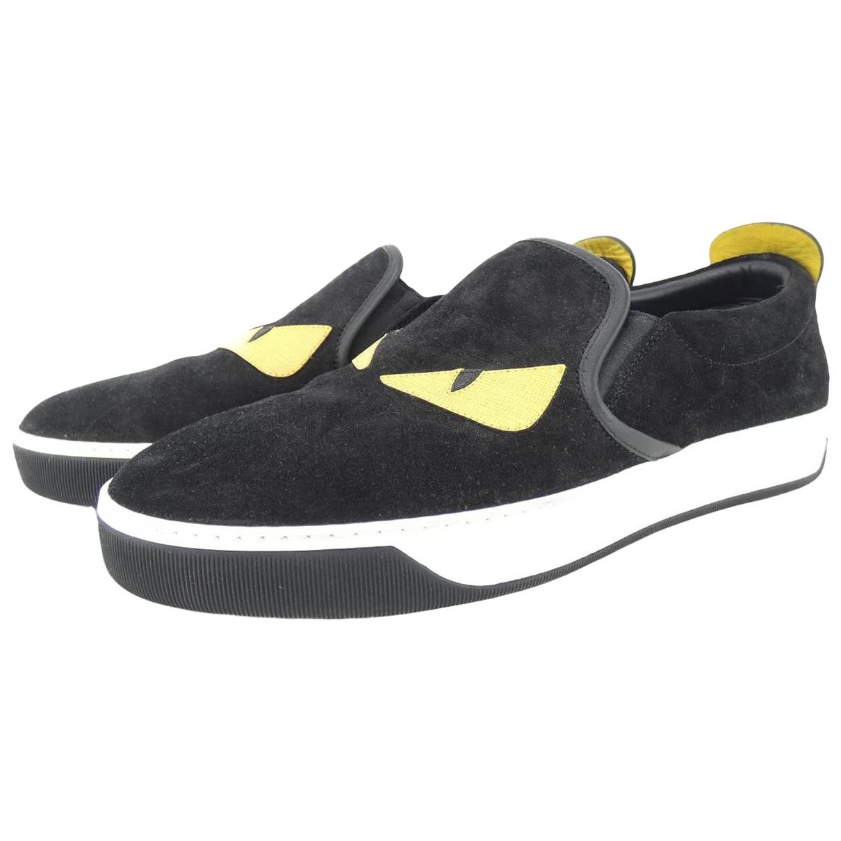 Fendi \N Black Cloth Trainers for Men 8 US