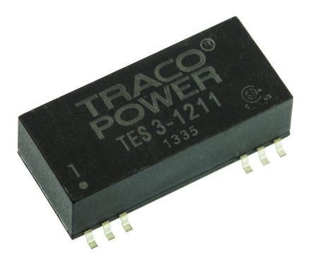 TRACOPOWER TES 3 3W Isolated DC-DC Converter Surface Mount, Voltage in 9 → 18 V dc, Voltage out 5V dc