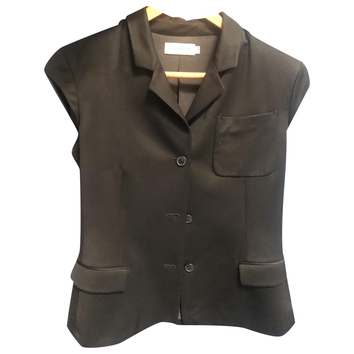 Calvin Klein - Veste   pour femme en coton - noir
