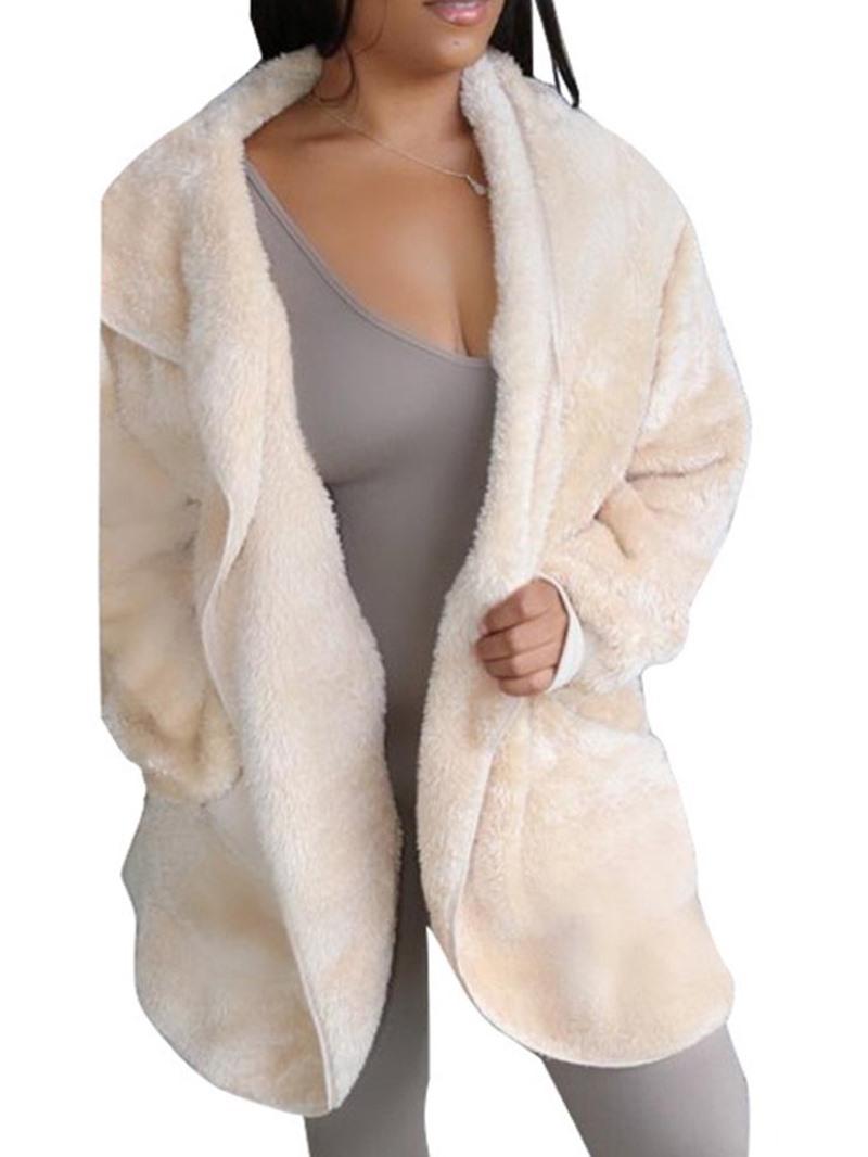 Ericdress Mid-Length Plain Loose Women's Overcoat