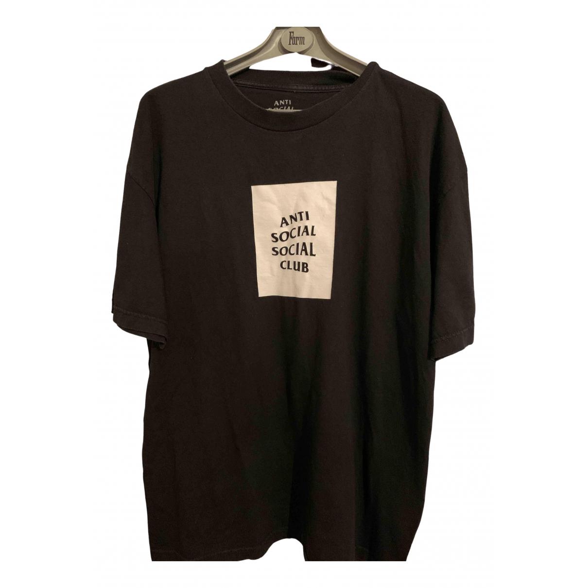 Anti Social Social Club - Tee shirts   pour homme en coton - noir