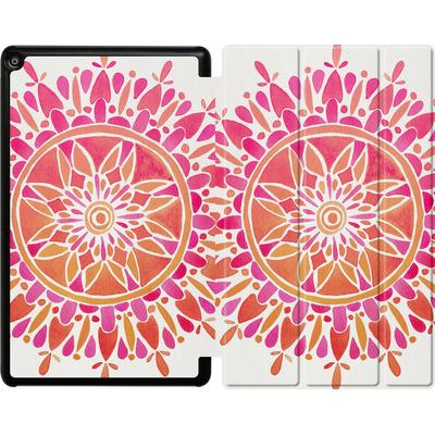 Amazon Fire HD 10 (2017) Tablet Smart Case - Mandala Pink Ombre von Cat Coquillette