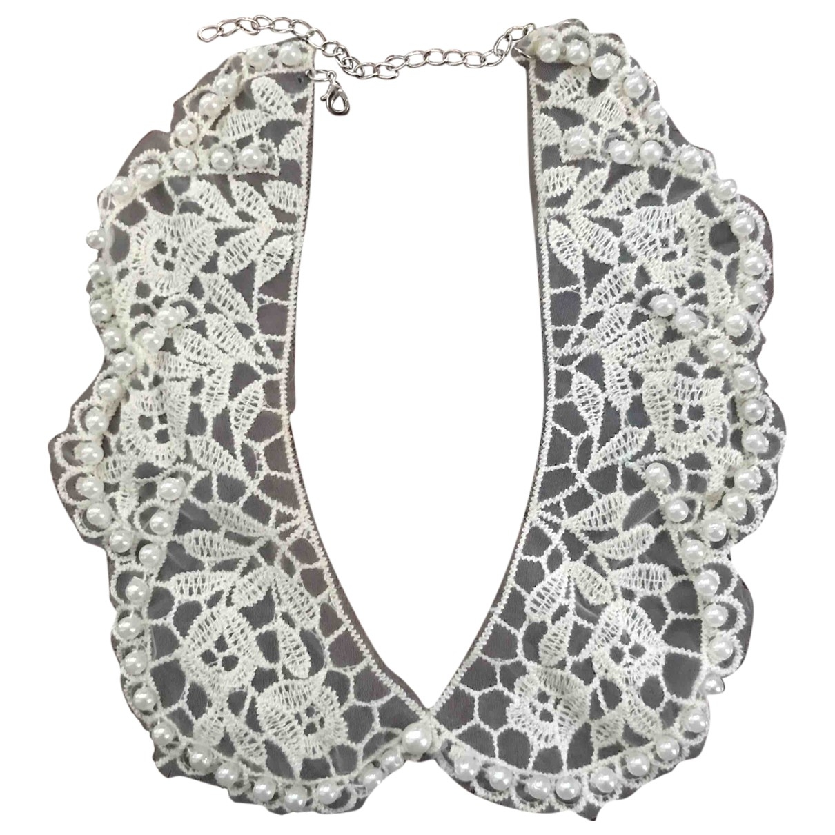 Non Signé / Unsigned \N White Cotton scarf for Women \N