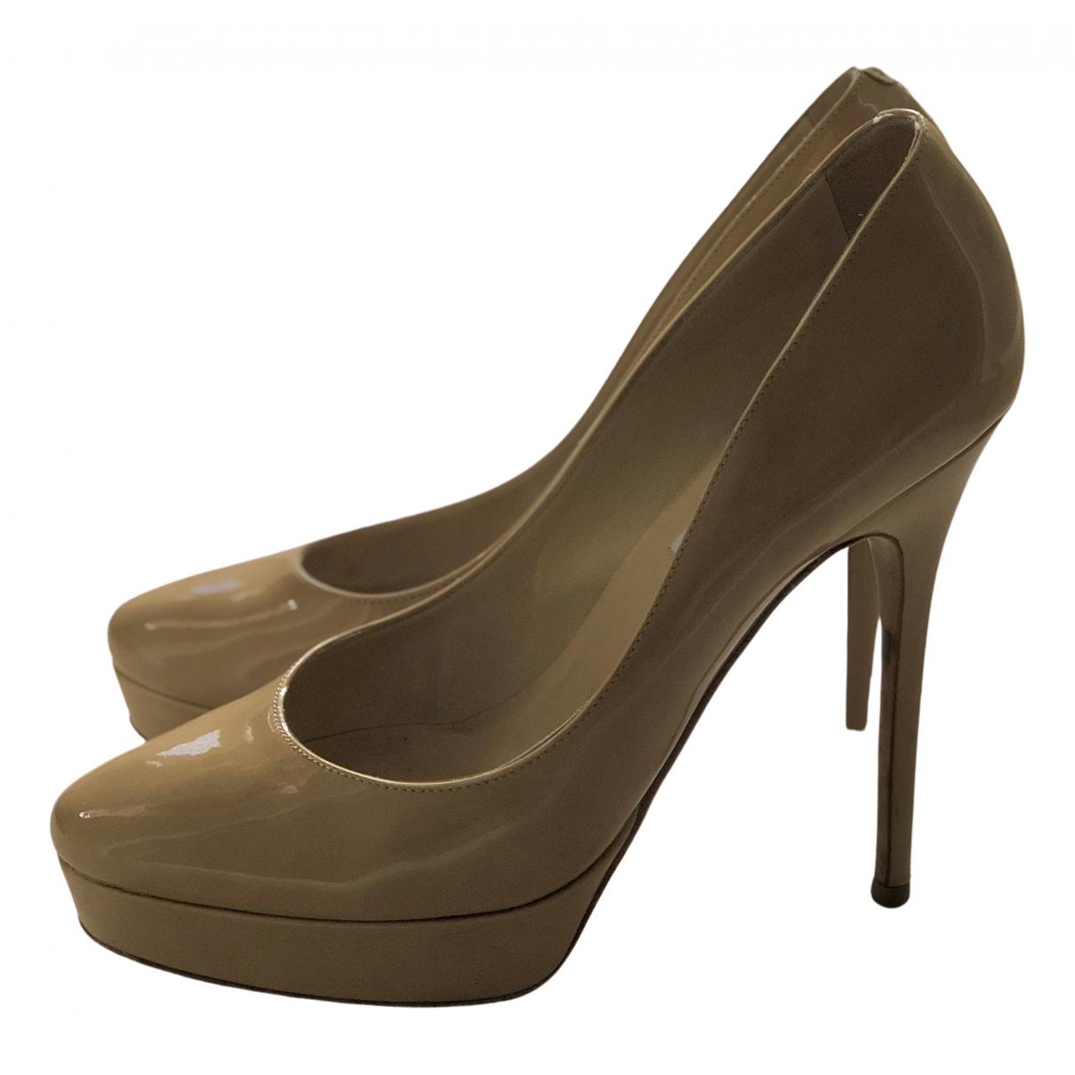 Jimmy Choo N Ecru Patent leather Heels for Women 38.5 EU