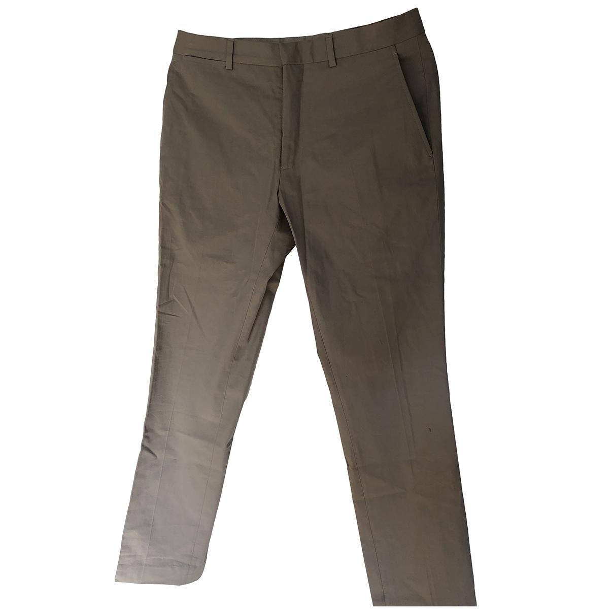 Burberry \N Beige Cotton Trousers for Men M International
