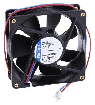 ebm-papst , 12 V dc, DC Axial Fan, 80 x 80 x 25mm, 69m³/h, 2W