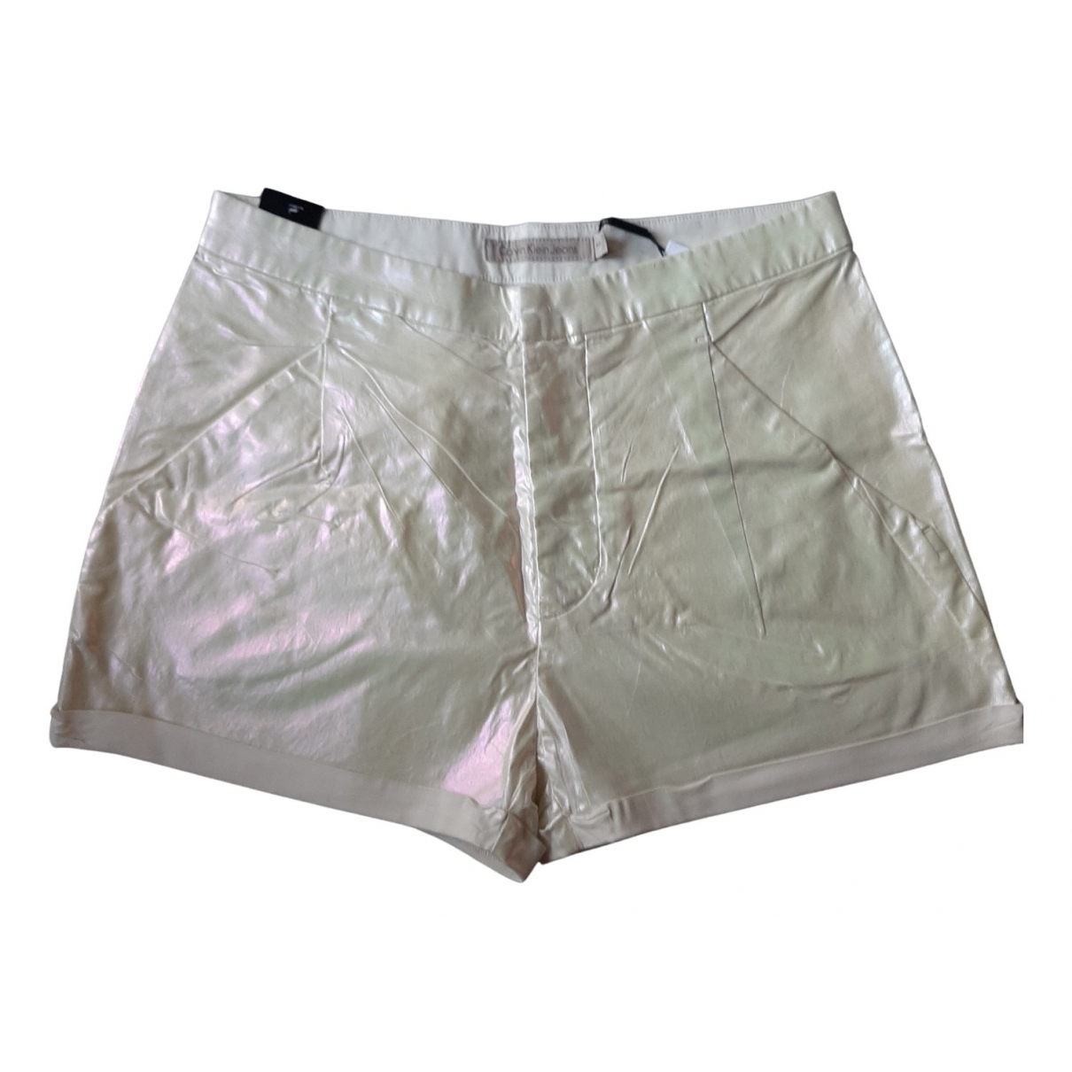 Calvin Klein \N Shorts in  Metallic Baumwolle - Elasthan