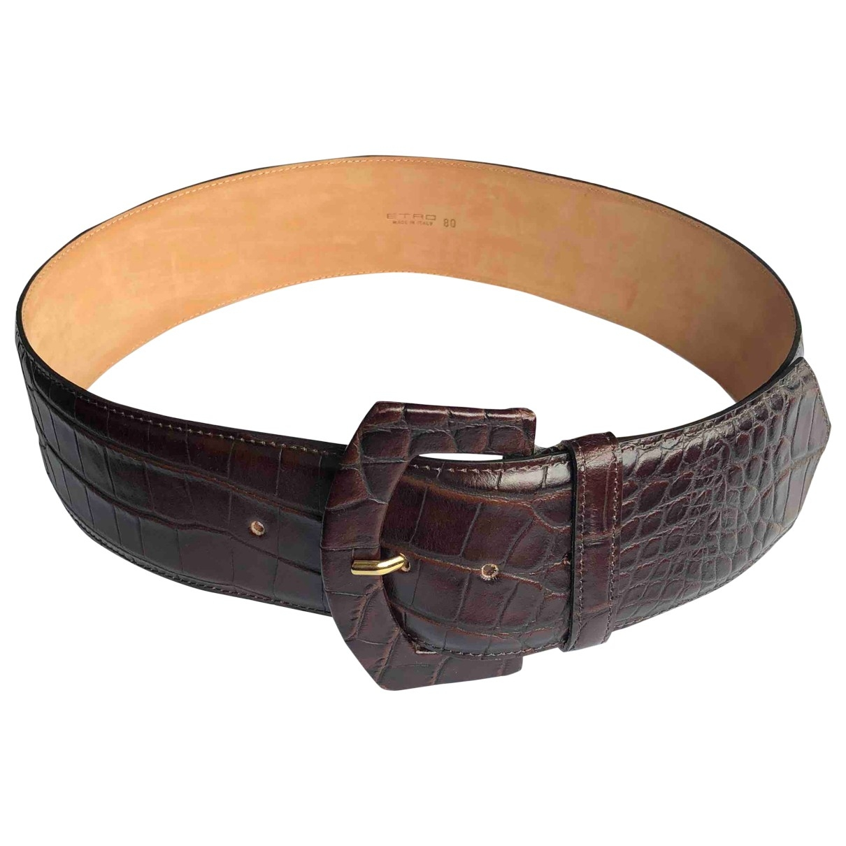 Etro \N Brown Leather belt for Women 80 cm