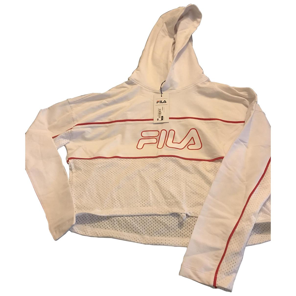 Fila - Pull   pour femme en coton - blanc