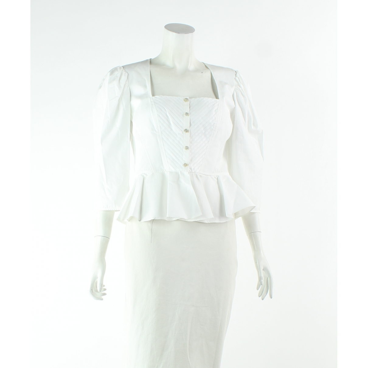 Temperley London \N White Cotton  top for Women 12 US