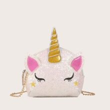 Kids Unicorn Design Chain Bag