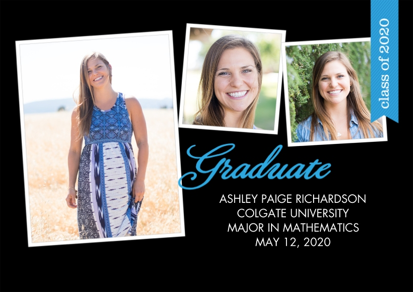 2020 Graduation Announcements 5x7 Cards, Premium Cardstock 120lb with Rounded Corners, Card & Stationery -2020 Graduate Flag by Tumbalina