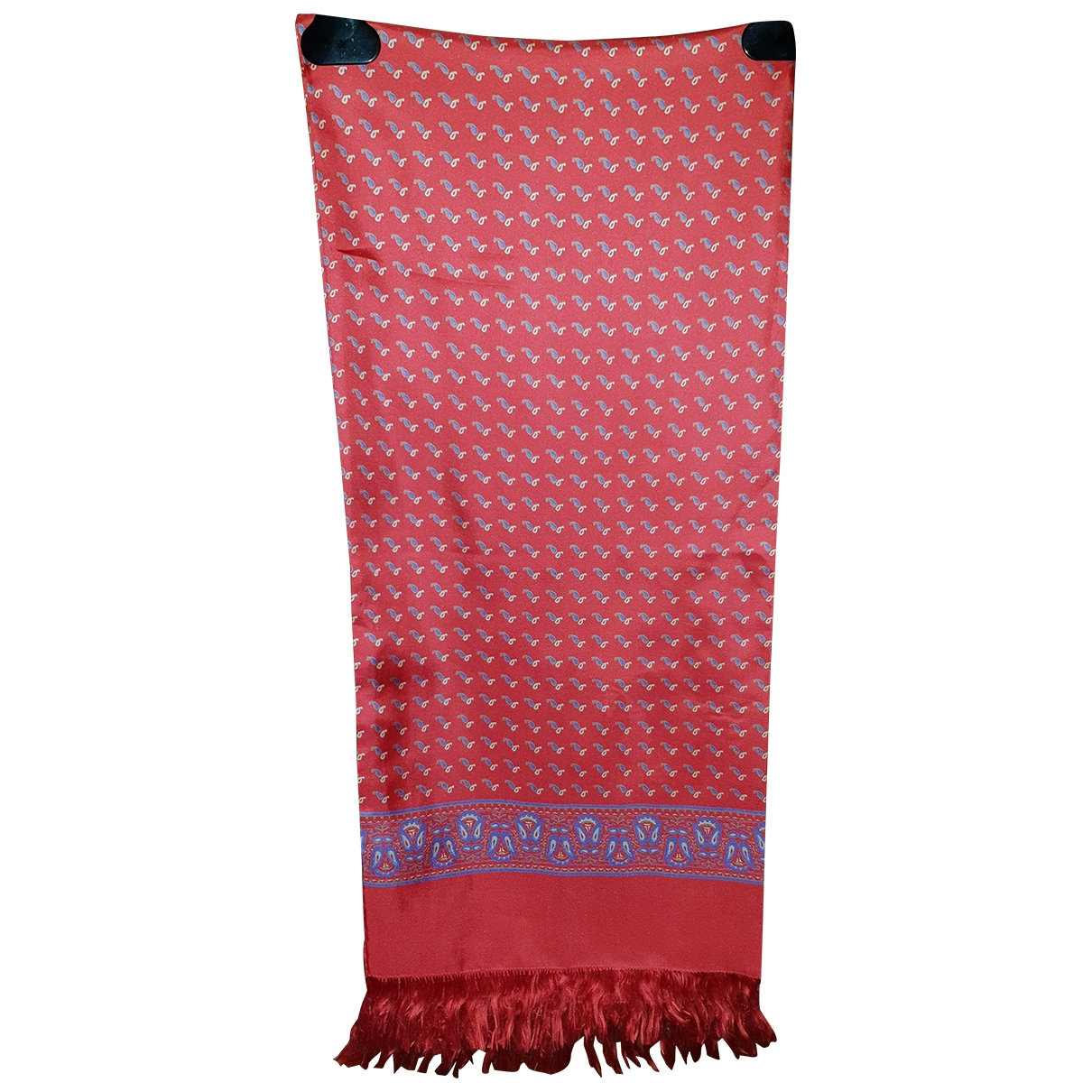 Non Signé / Unsigned Hippie Chic Red Silk scarf for Women \N