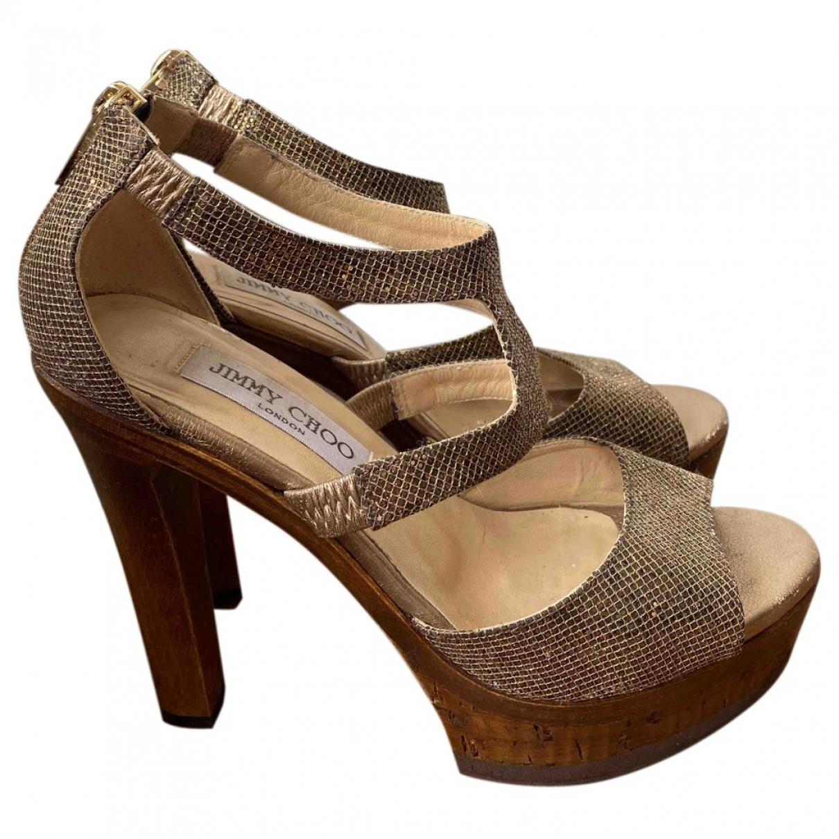 Jimmy Choo \N Gold Leather Sandals for Women 36.5 EU