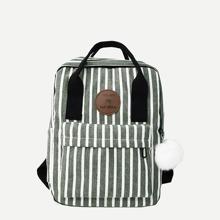Segeltuch Rucksack mit Streifen Muster