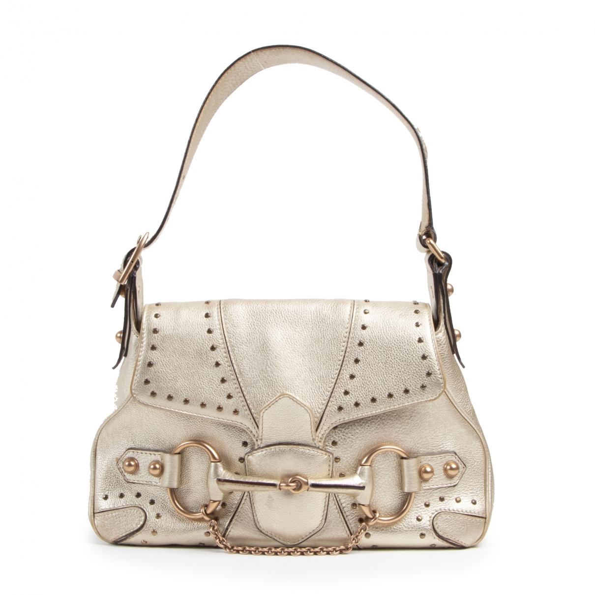 Gucci \N Gold Leather handbag for Women \N