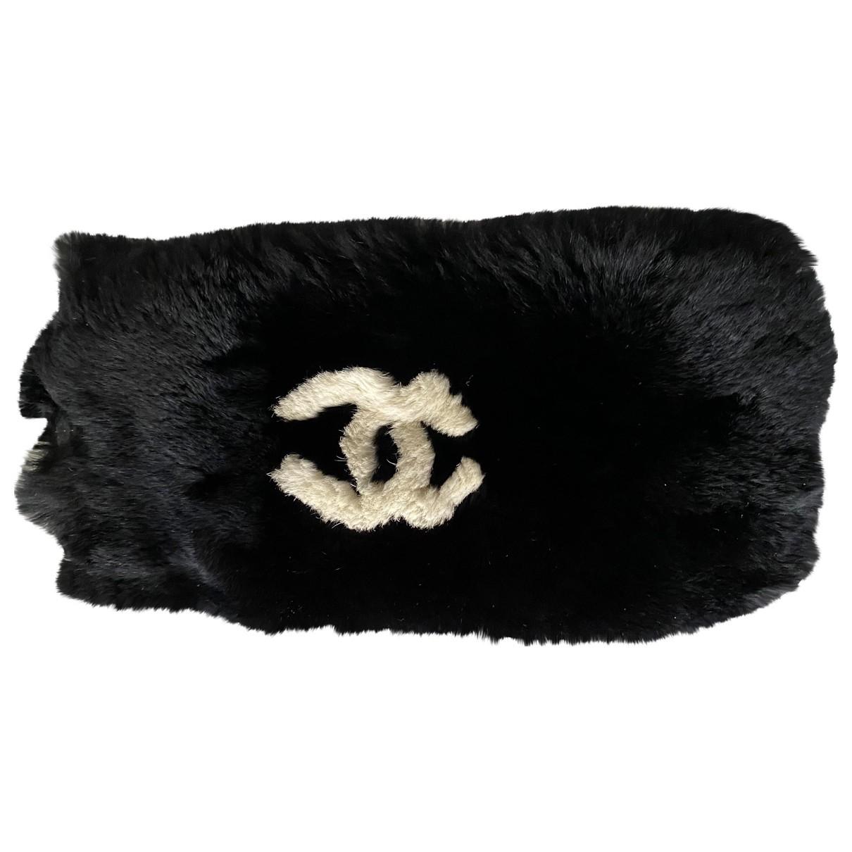 Chanel - Bracelet CC pour femme en lapin - noir
