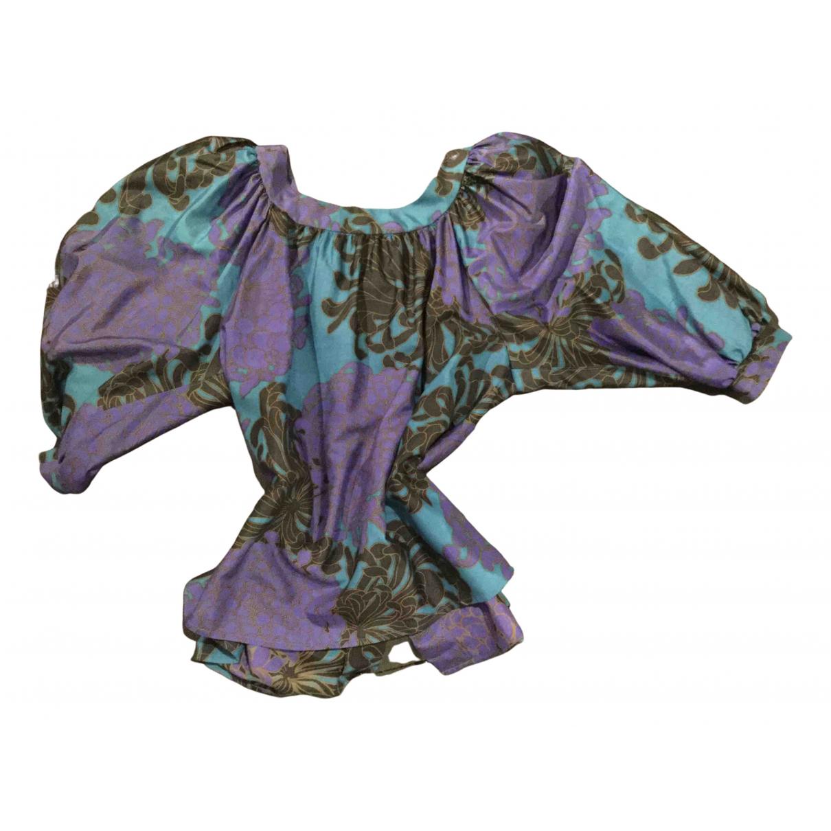 Yves Saint Laurent - Top   pour femme en soie - multicolore
