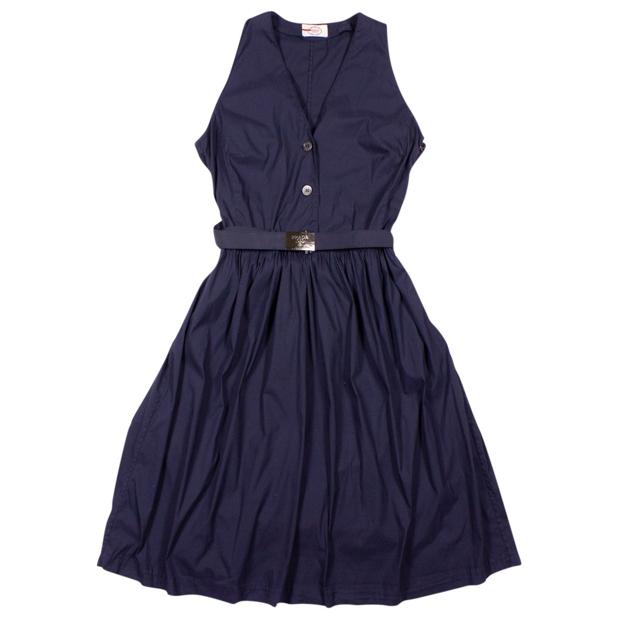 Prada - Robe   pour femme en coton - marine