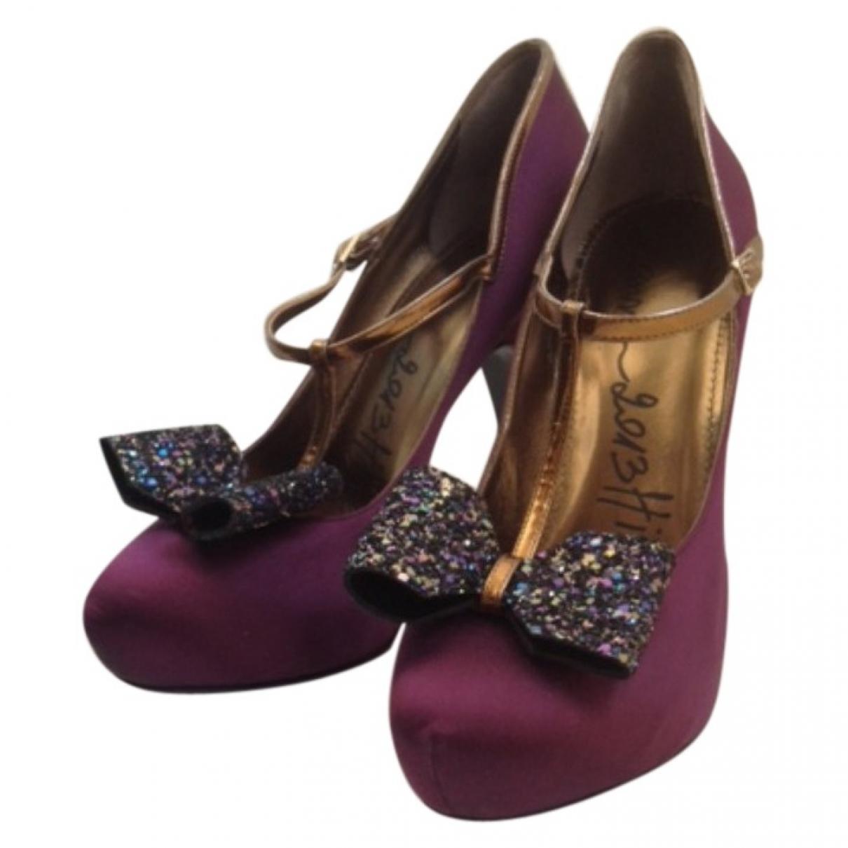 Lanvin - Escarpins   pour femme en toile - violet