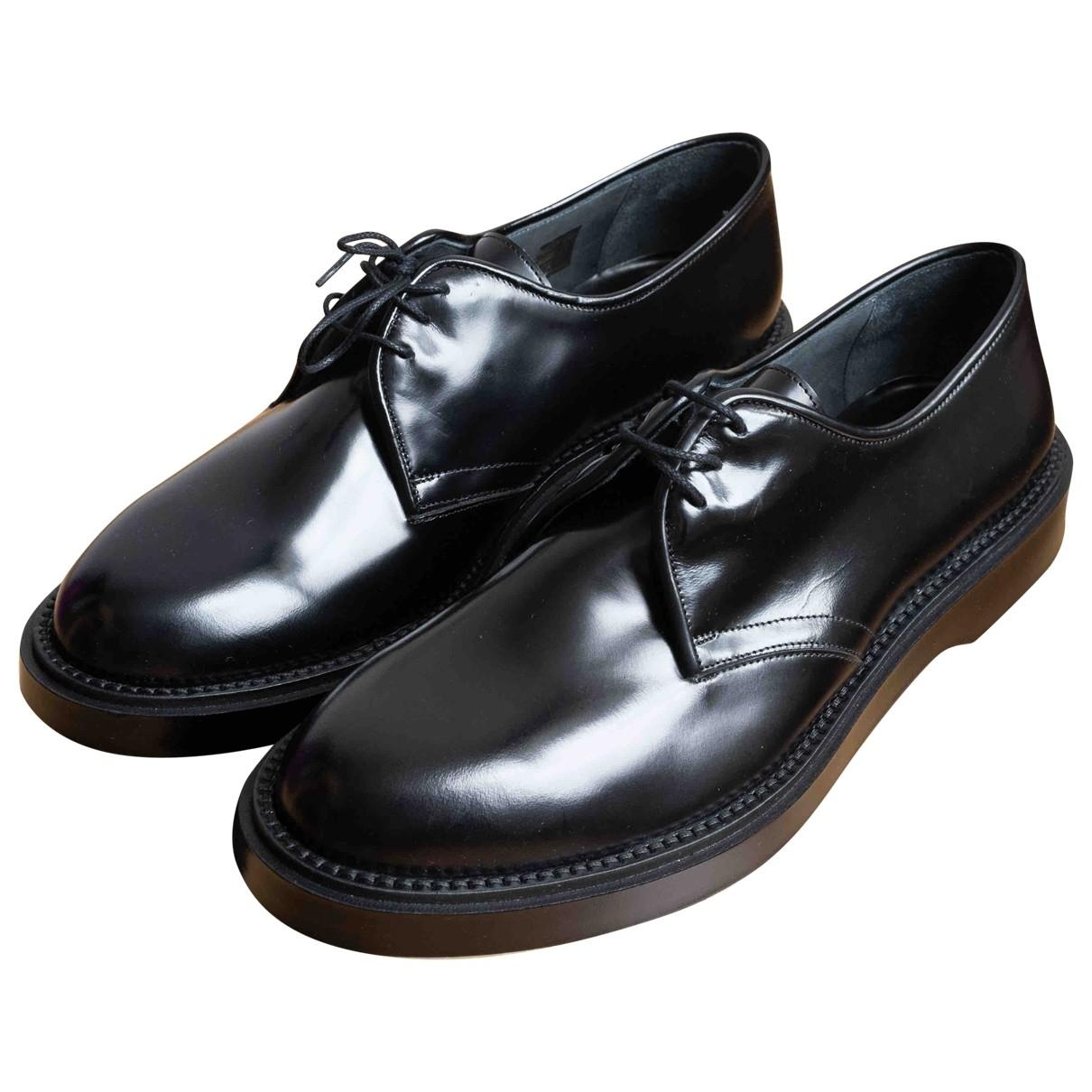 Adieu \N Black Leather Lace ups for Men 45 EU