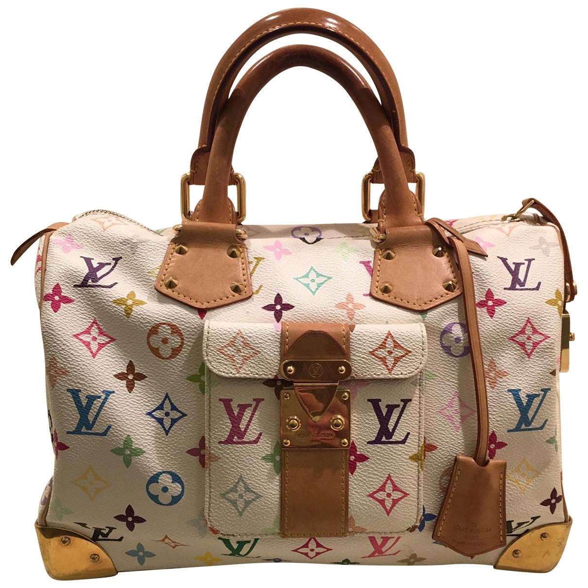 Louis Vuitton Speedy White Cloth handbag for Women \N