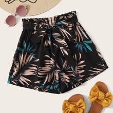 Tropical Paperbag Shorts