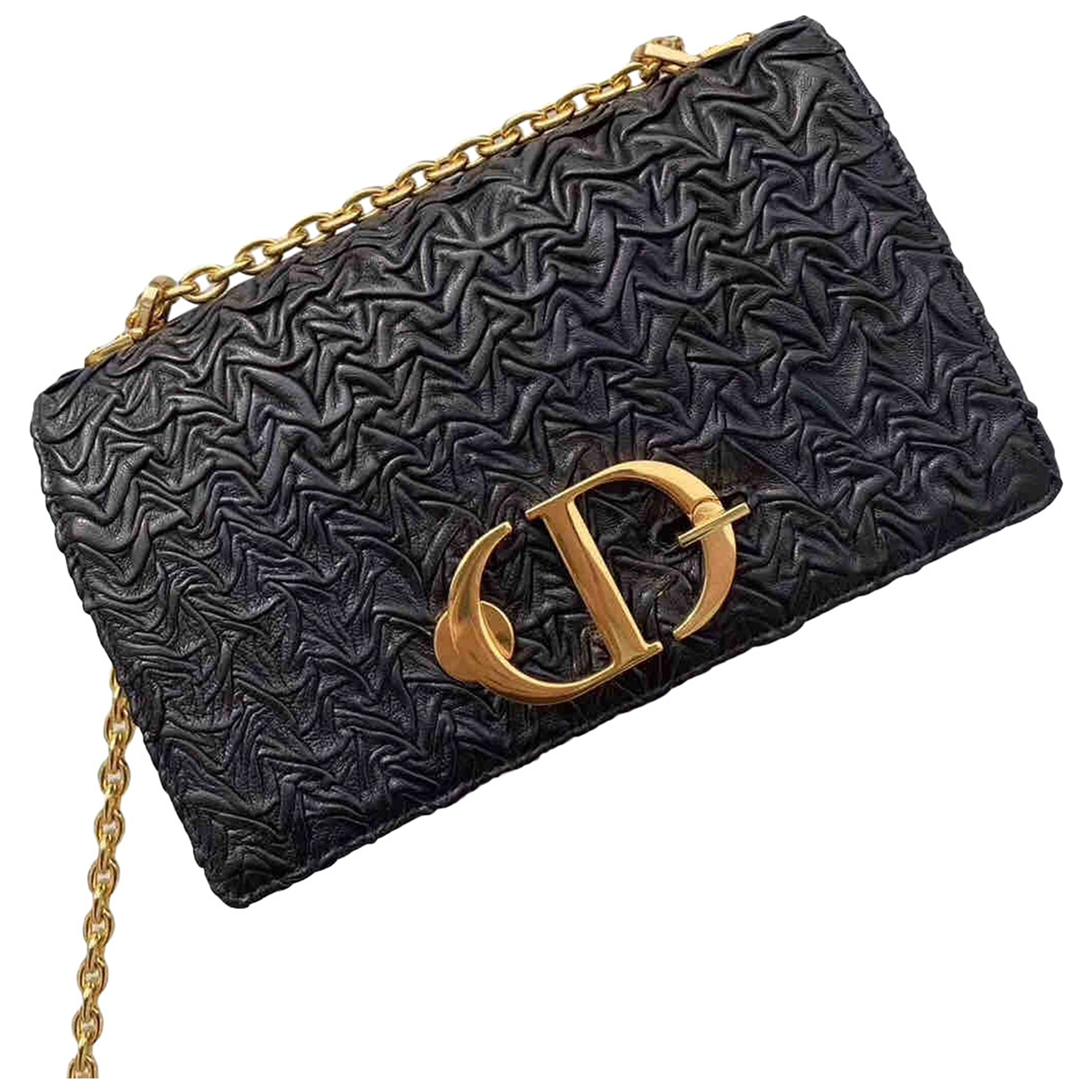 Dior 30 Montaigne Black Leather handbag for Women \N