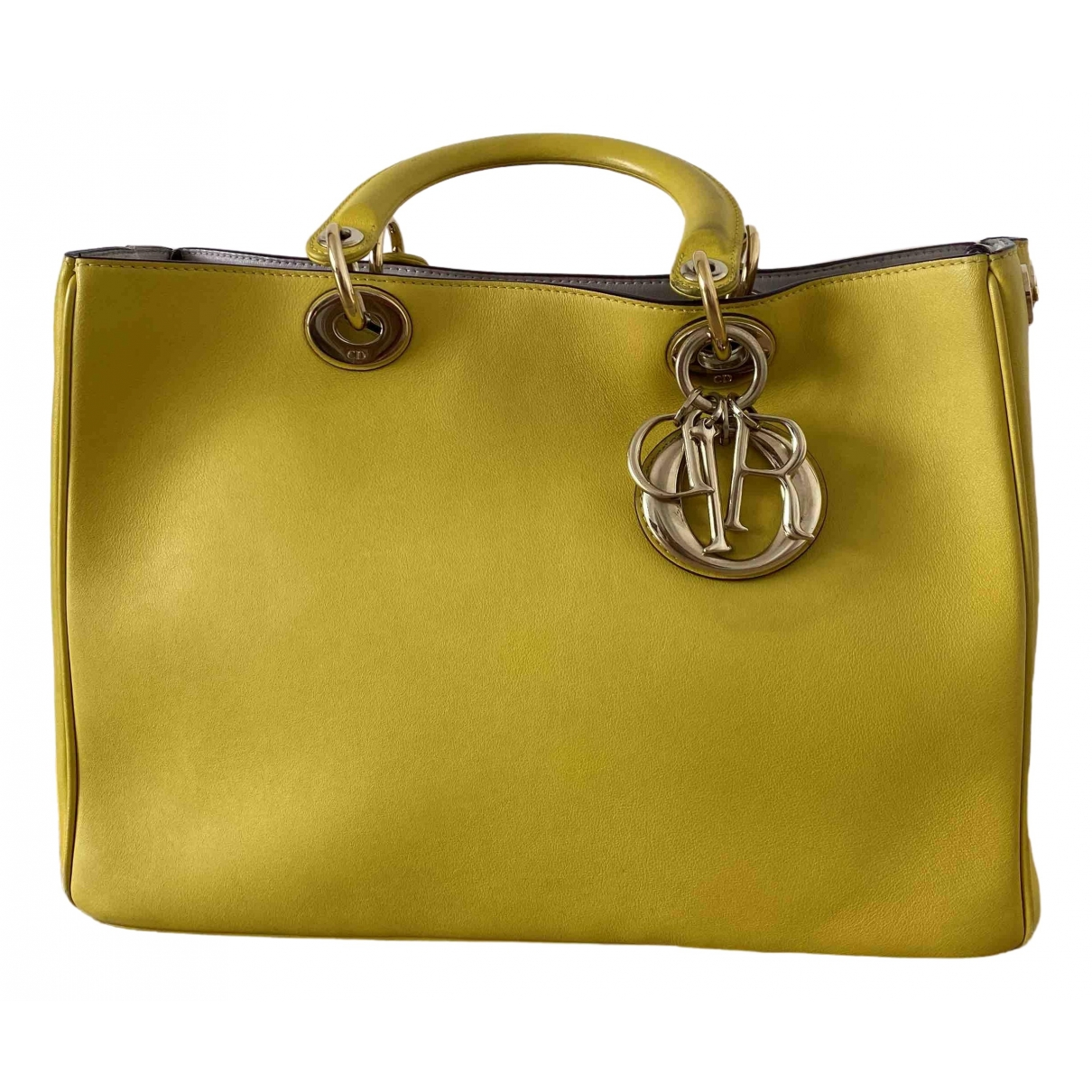 Dior - Sac a main Diorissimo pour femme en cuir - jaune