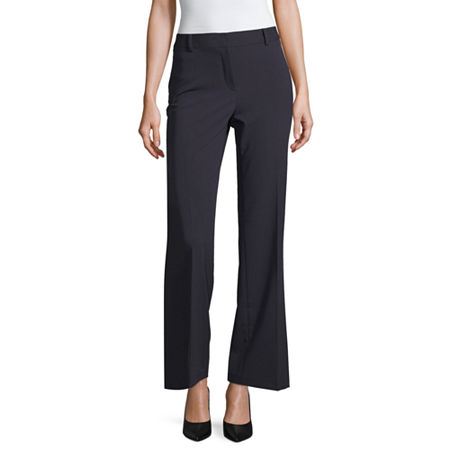 Liz Claiborne Curvy Fit Elizabeth Secretly Slender Bootcut Trousers, 12 , Blue