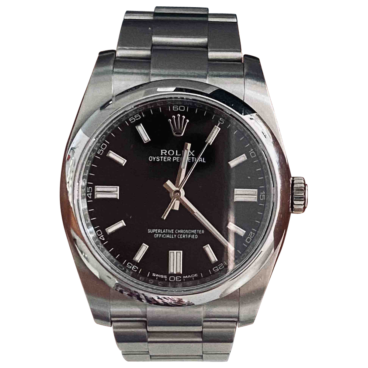 Rolex Oyster Perpetual 36mm Black Steel watch for Women \N