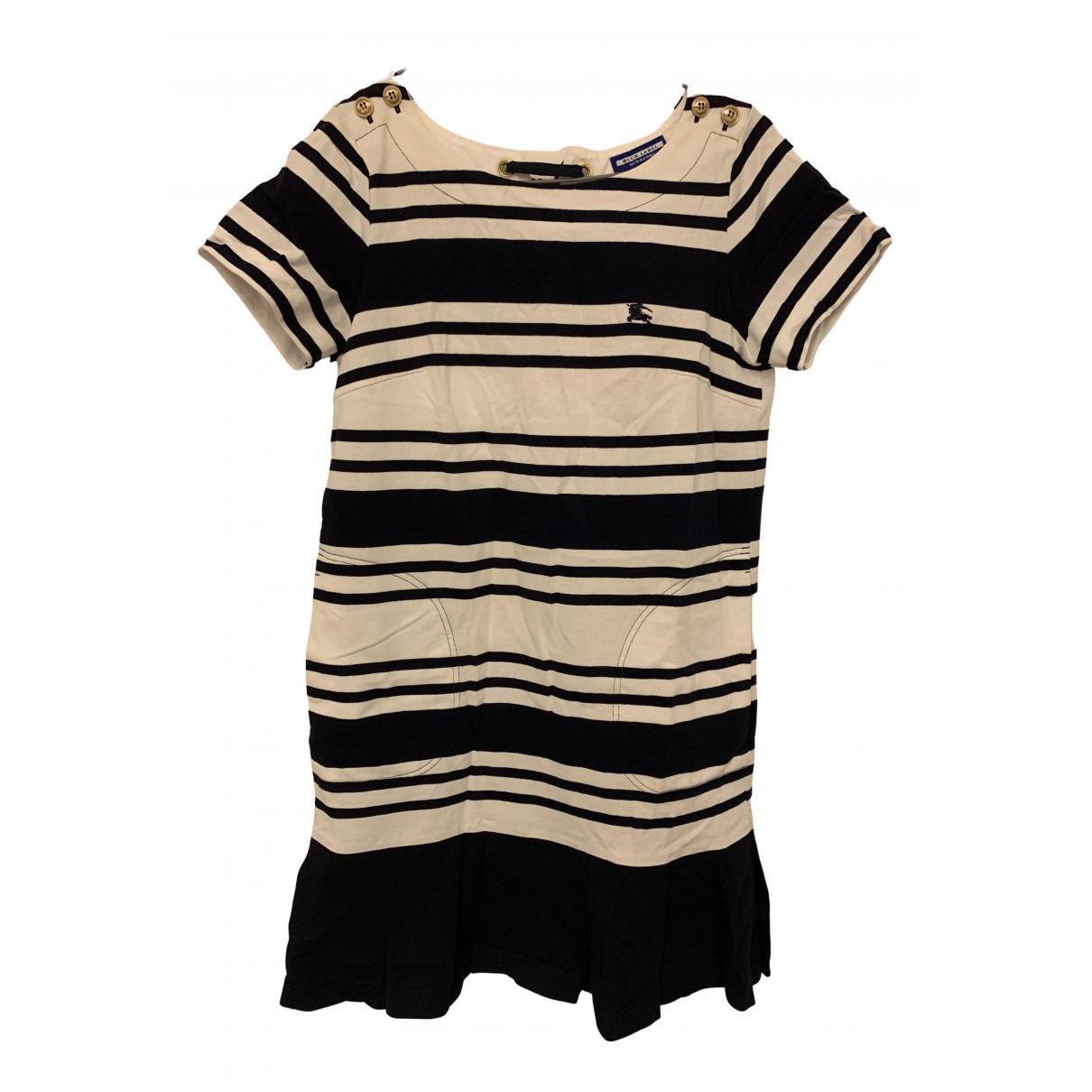 Burberry - Robe   pour femme en coton - marine