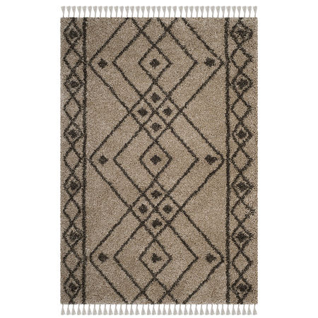 Safavieh Moroccan Fringe Shag Collection Anselmo Geometric Area Rug, One Size , Multiple Colors