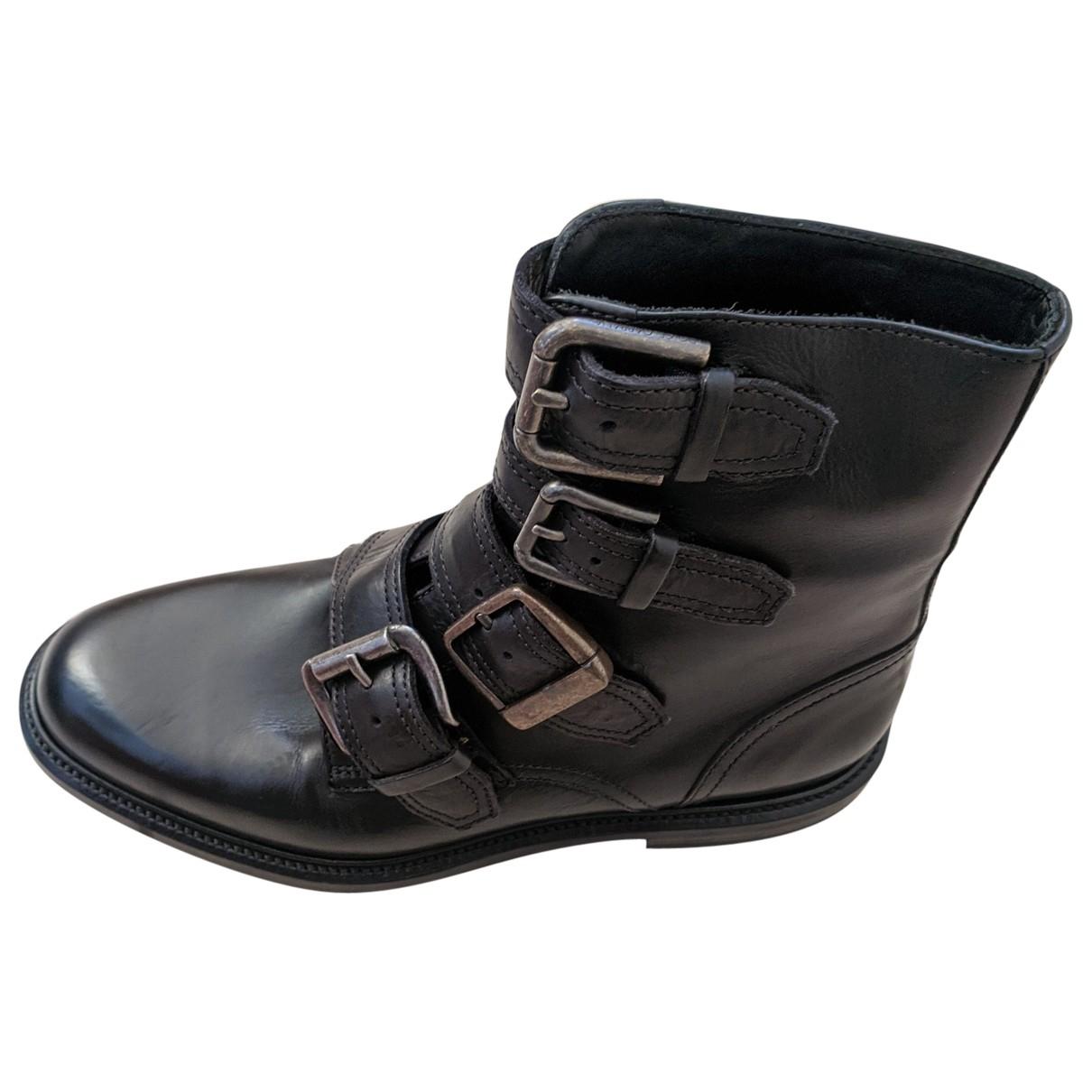 Dolce & Gabbana \N Black Leather Boots for Men 7 UK