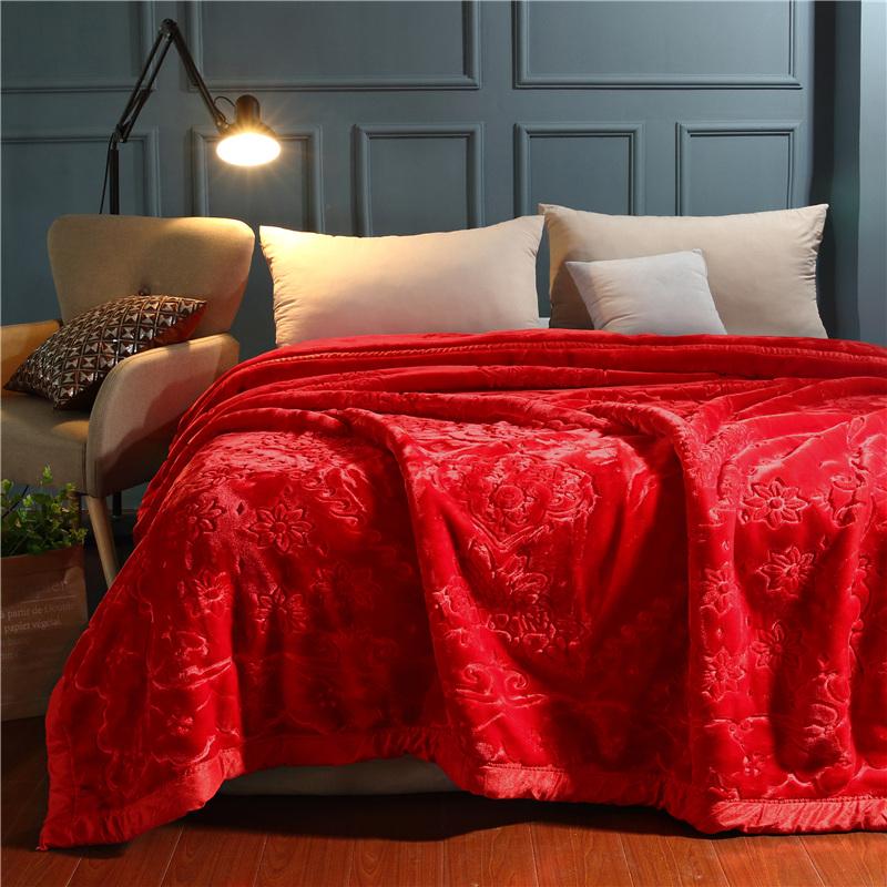 Flower Printing Anti-Pilling Flannel Fleece Bed Blanket