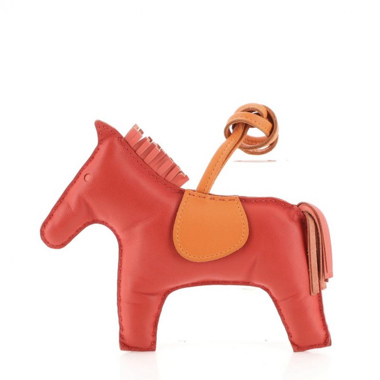 Hermes - Bijoux de sac   pour femme en cuir - rouge