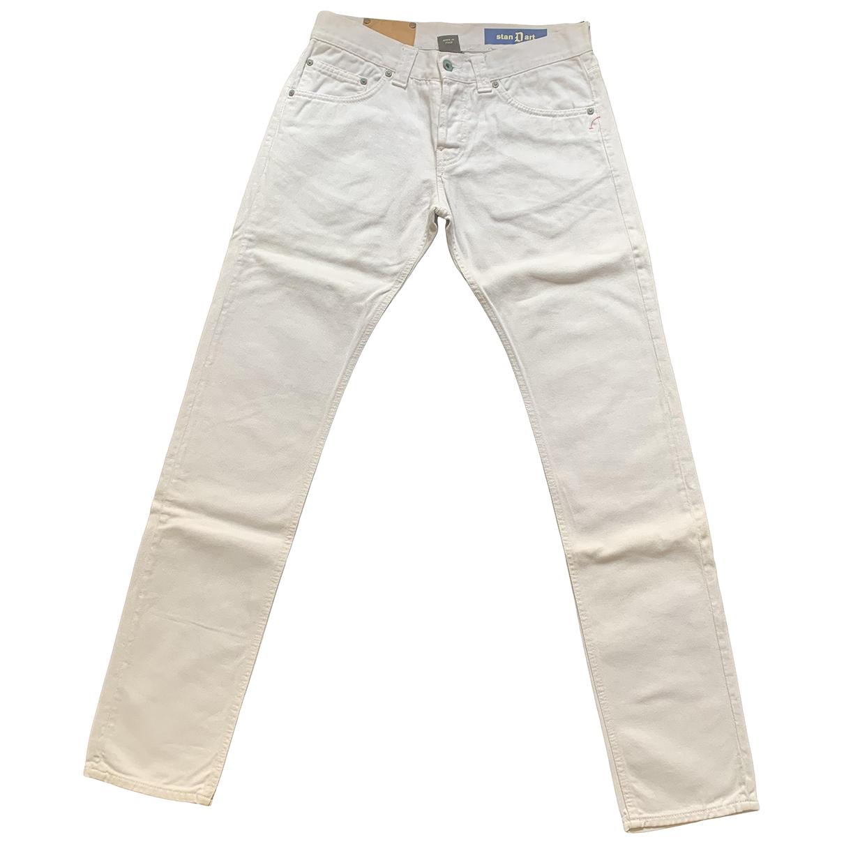 Dondup - Jean   pour homme en coton - blanc