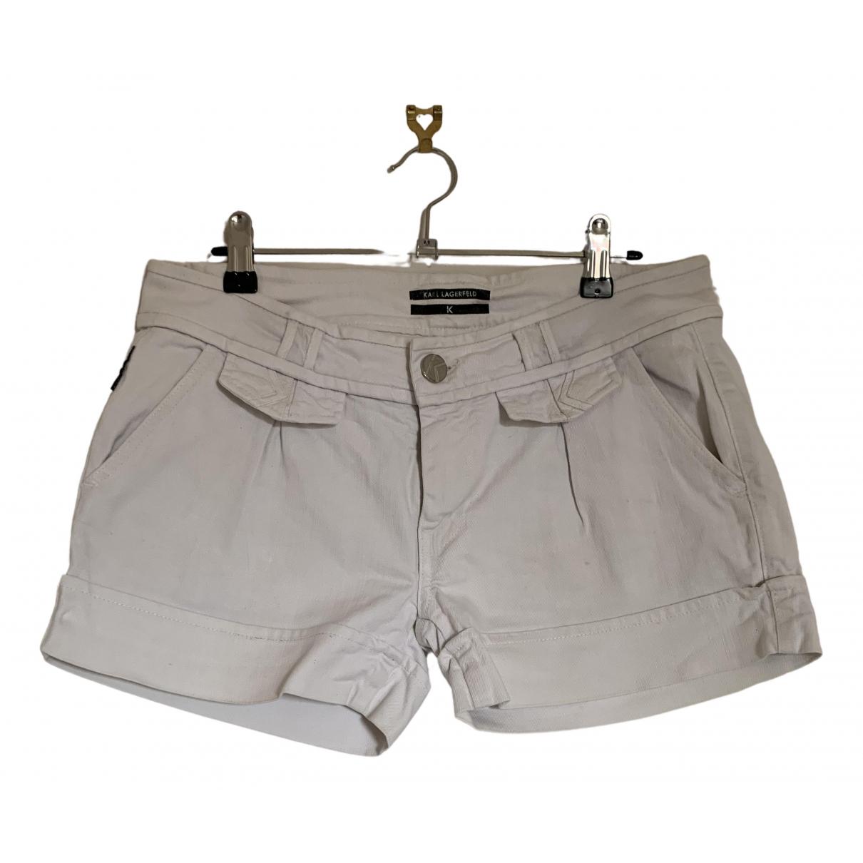 Karl Lagerfeld \N Shorts in  Weiss Baumwolle