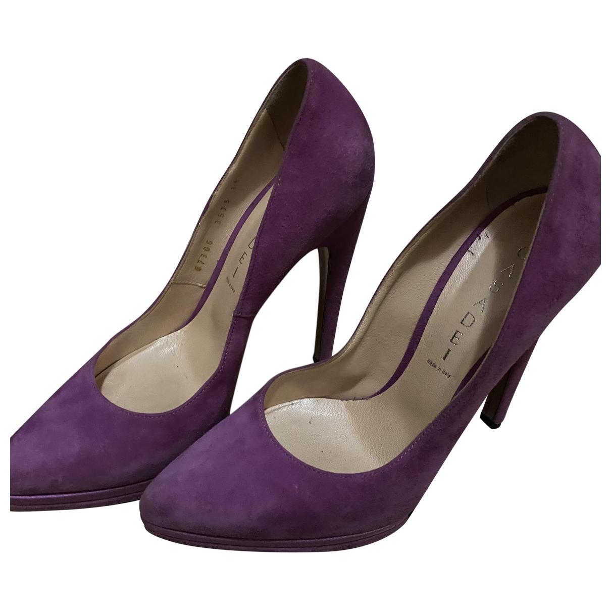 Casadei - Escarpins   pour femme en suede - violet