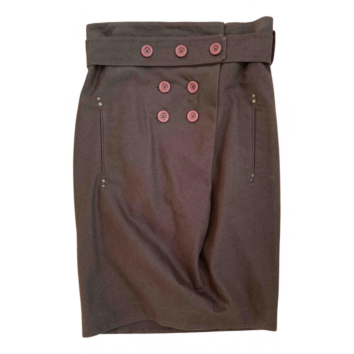 Kenzo N Khaki Cotton skirt for Women 36 FR